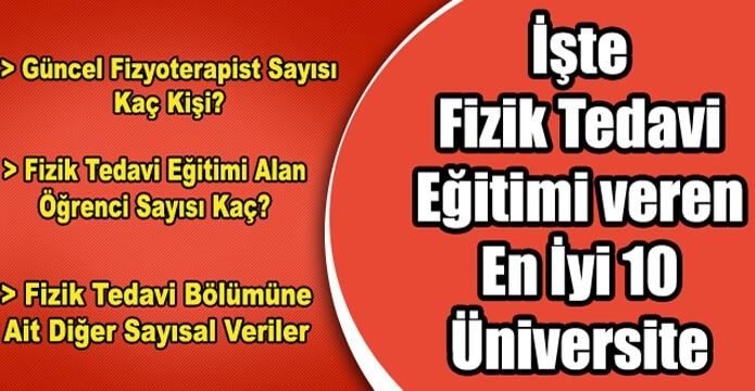 Türkiye'de Fizik Tedavi Eğitimi Veren En İyi 10 Üniversite